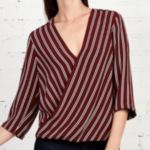 Bailey 44 Red Wrap Top Blouse (Small)